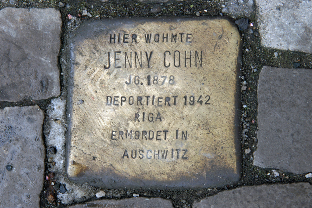 Stolpersteine 36: In memory of Jenny Cohn (Gipsstrasse 6) in Berlin