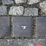 Stolpersteine 4 (4): In memory of Doris Birnbraum, Adolf Kraft and Martha Sorauer (corner of Skalitzer Strasse and Oranienstrasse) in Berlin
