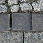 Stolpersteine 4 (6): In memory of Albert Sorauer, Max Jaspis and Siegfried Levy (corner of Skalitzer Strasse and Oranienstrasse) in Berlin