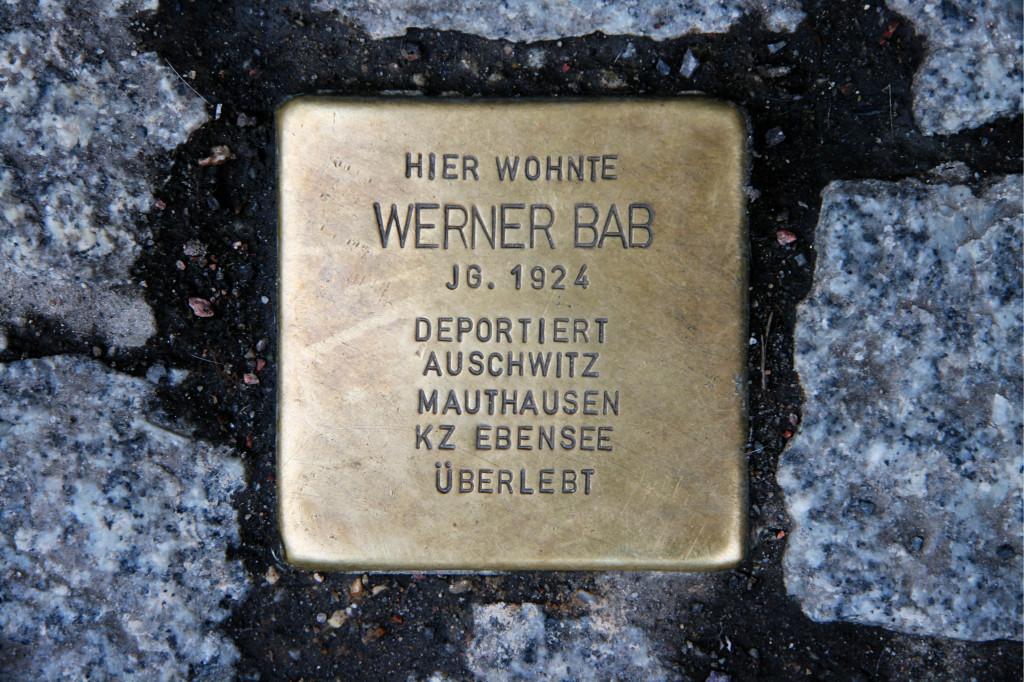 Stolpersteine 42: In memory of Werner Bab (Schönhauser Allee 187 in Berlin