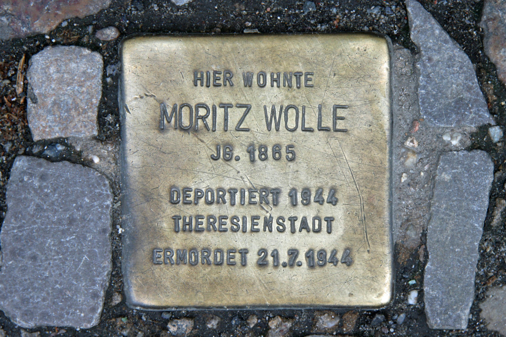 Stolpersteine 43: In memory of Moritz Wolle (Rosenthaler Strasse 72) in Berlin