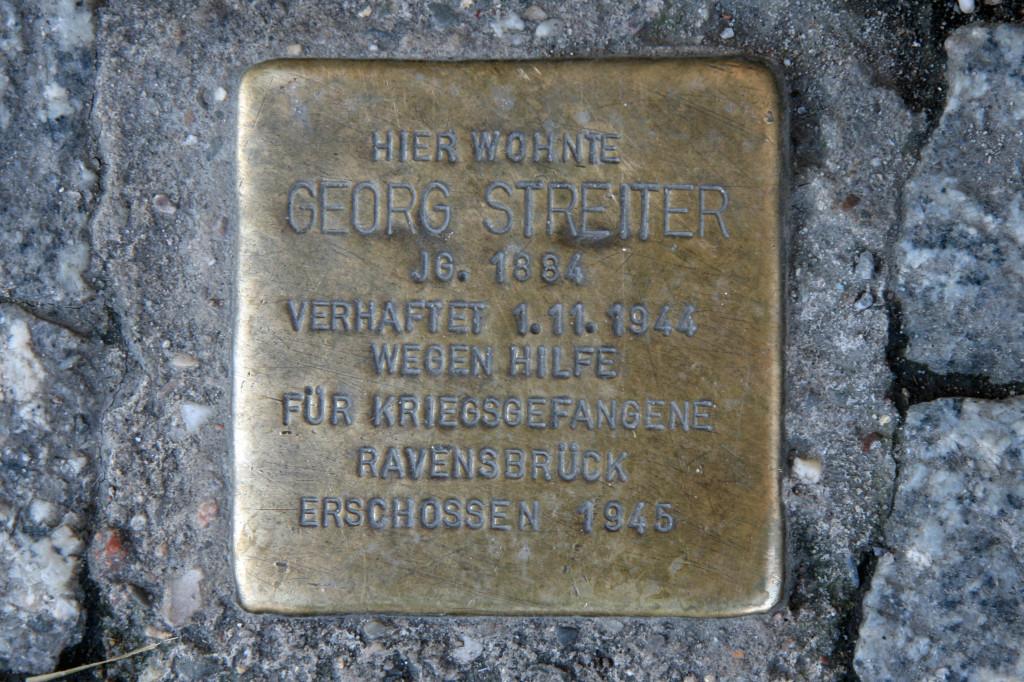 Stolpersteine 45: In memory of Georg Streiter (Schönhauser Allee 130) in Berlin