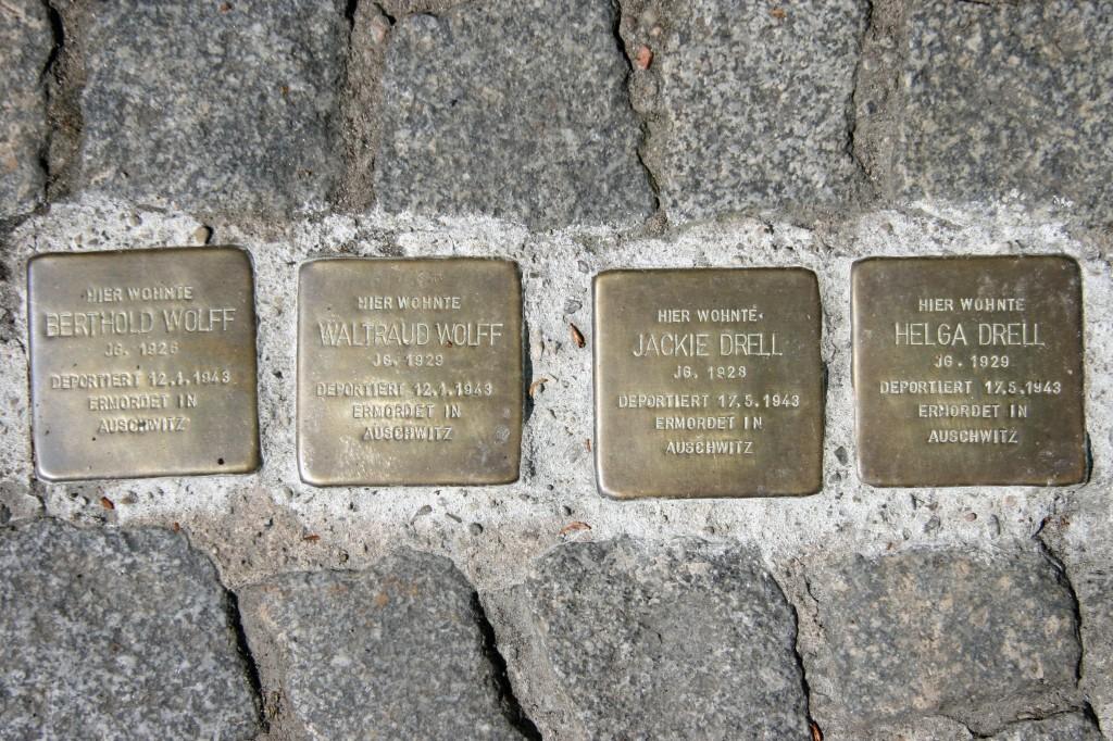 Stolpersteine 65: In memory of Berthold Wolff, Waltraud Wolff, Jackie Drell and Helga Drell (Schönhauser Allee 163) in Berlin