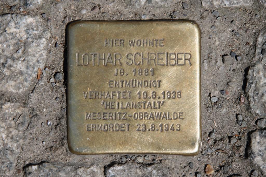 Stolpersteine 70: In memory of Lothar Schreiber (Grosse Hamburger Strasse 38) in Berlin