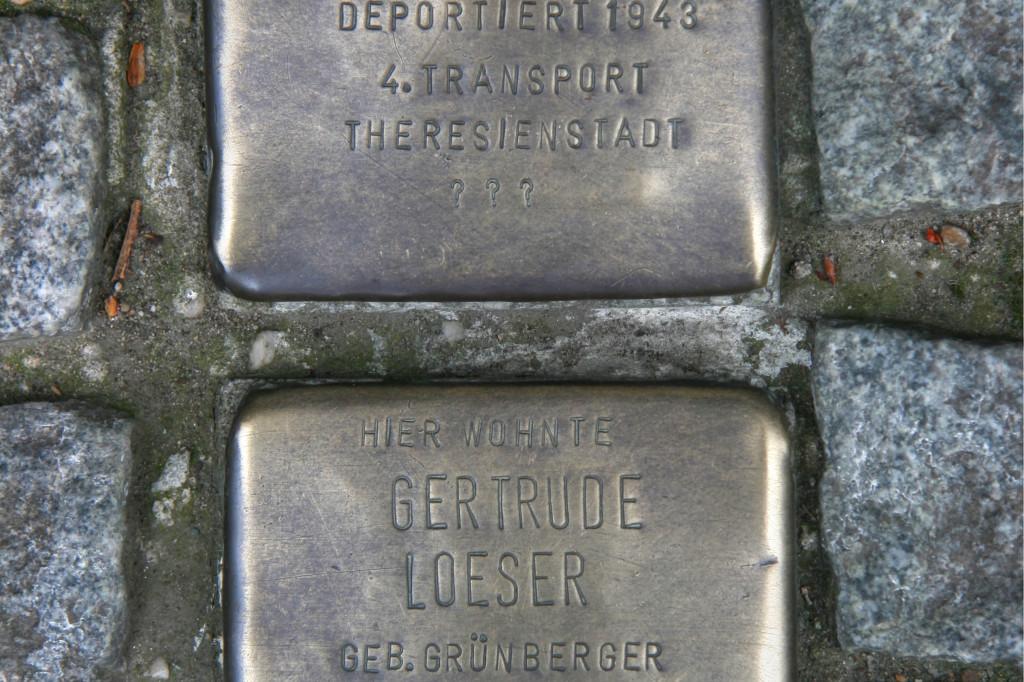 Stolpersteine 75: In memory of Abraham Loeser and Gertrude Loeser (Mehringdamm 86) in Berlin