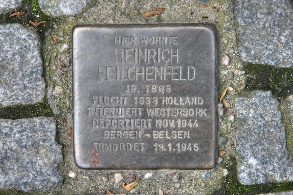 Stolpersteine 82: In memory of Heinrich Feilchenfeld (Oranienstrasse 119) in Berlin