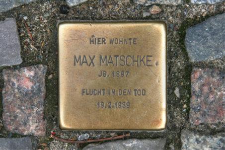 Stolpersteine 84: In memory of Max Matschke (Friedrichstrasse 34) in Berlin