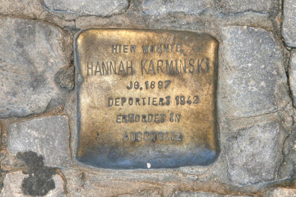 Stolpersteine 88: In memory of Hannah Karminski (Oranienburger Strasse 22) in Berlin