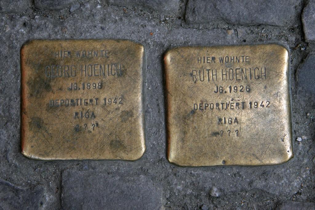 Stolpersteine 89: In memory of Georg Hoenich and Ruth Hoenich (Rigaer Strasse 30) in Berlin