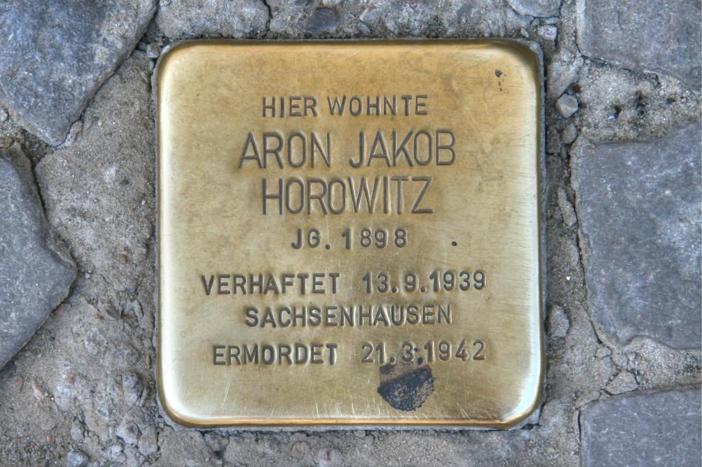 Stolpersteine 91: In memory of Aron Jakob Horowitz (Alte Schönhauser Strasse 23-24) in Berlin