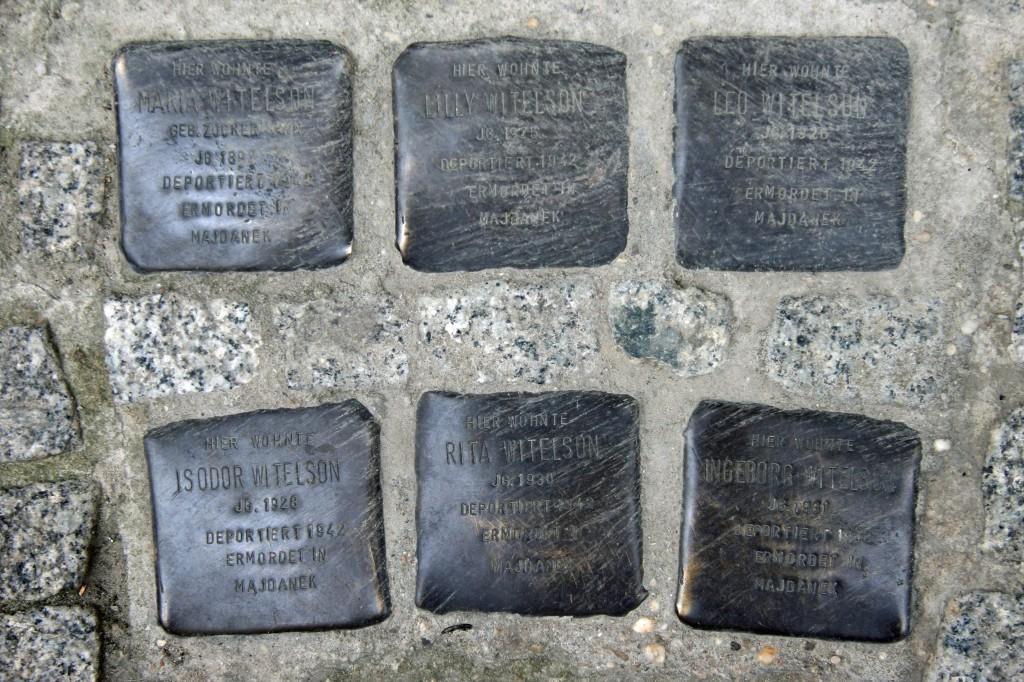 Stolpersteine 92: In memory of Maria Witelson, Lilly Witelson, Leo Witelson, Isodor Witelson, Rita Witelson and Ingeborg Witelson (Almstadtstrasse 19) in Berlin