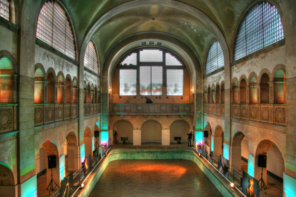The Main Hall and Swimming Pool at Stadtbad Prenzlauer Berg in Berlin