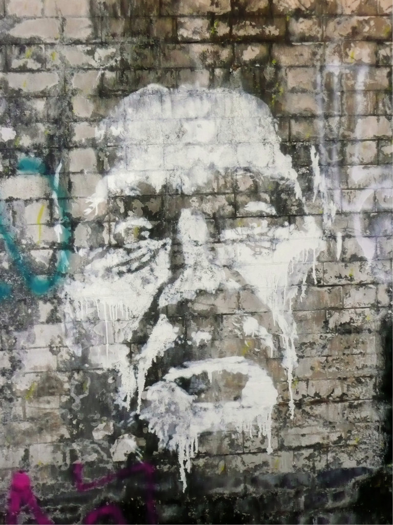 Street Art by Vhils in the Leake Street Tunnel at Cans Festival - August 2008