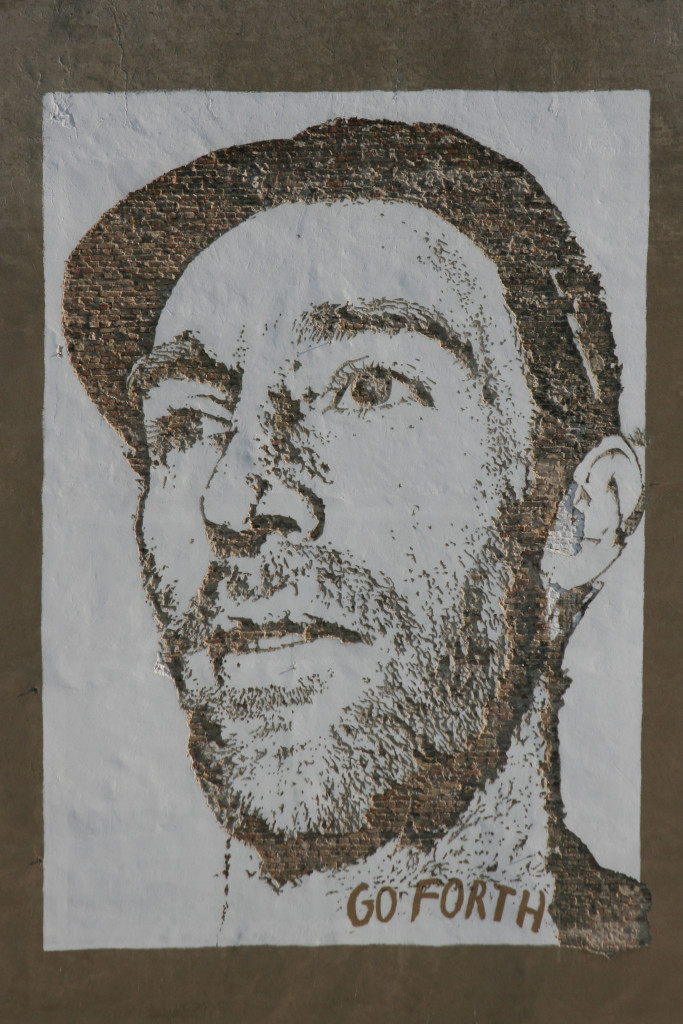 Joe Hatchiban: Street Art by Vhils (Alexandre Farto) in Berlin for the Go Forth advertising campaign for Levi's