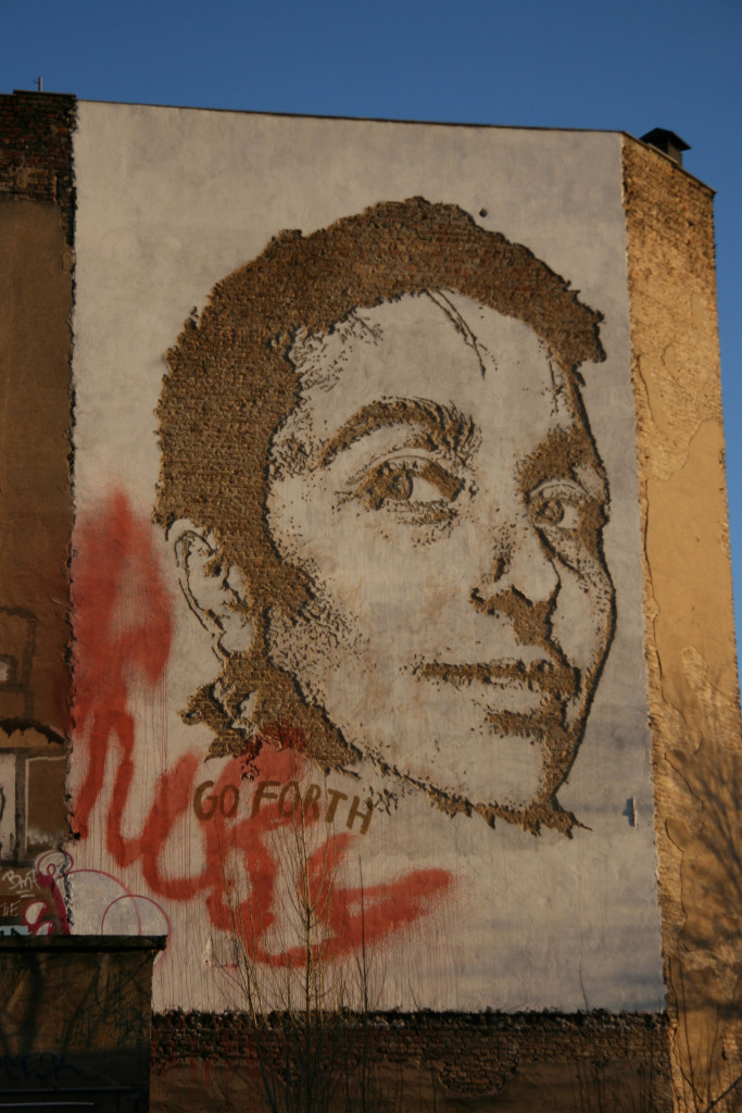 Various & Gould: Street Art by Vhils (Alexandre Farto) in Berlin for the Go Forth advertising campaign for Levi's