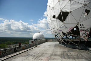 A view across the roof of the main building at the NSA Listening Station at Teufelsberg