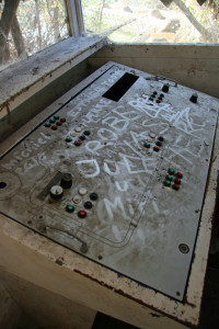 A Control Panel for the Grand Canyon ride at Spreepark Plänterwald, an abandoned Theme Park in Berlin