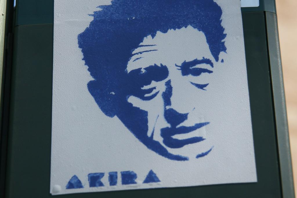 Blue Man: Sticker Street Art by Akira in Berlin