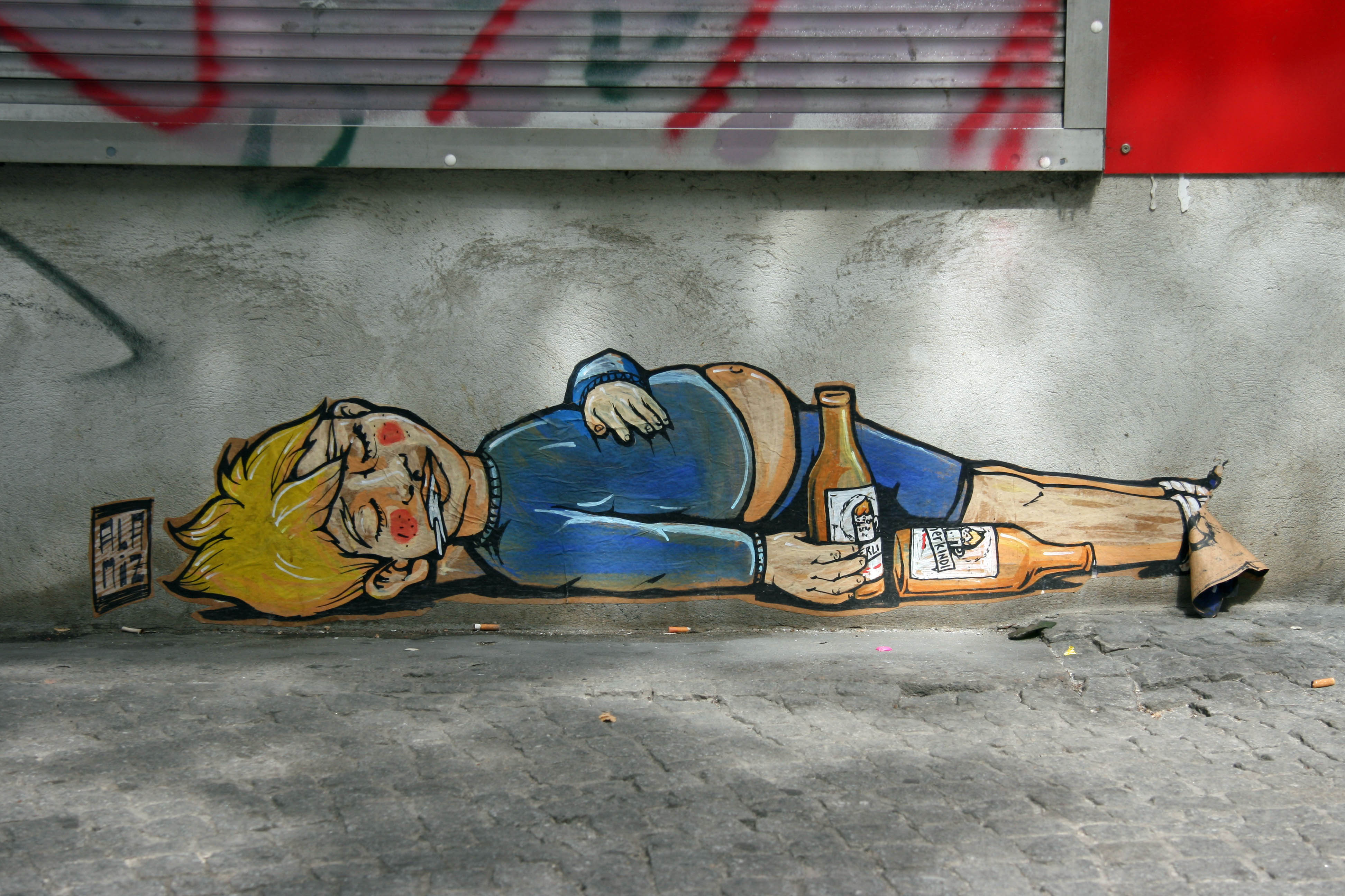 Berliner Kindl: Street Art by ALANIZ in Berlin