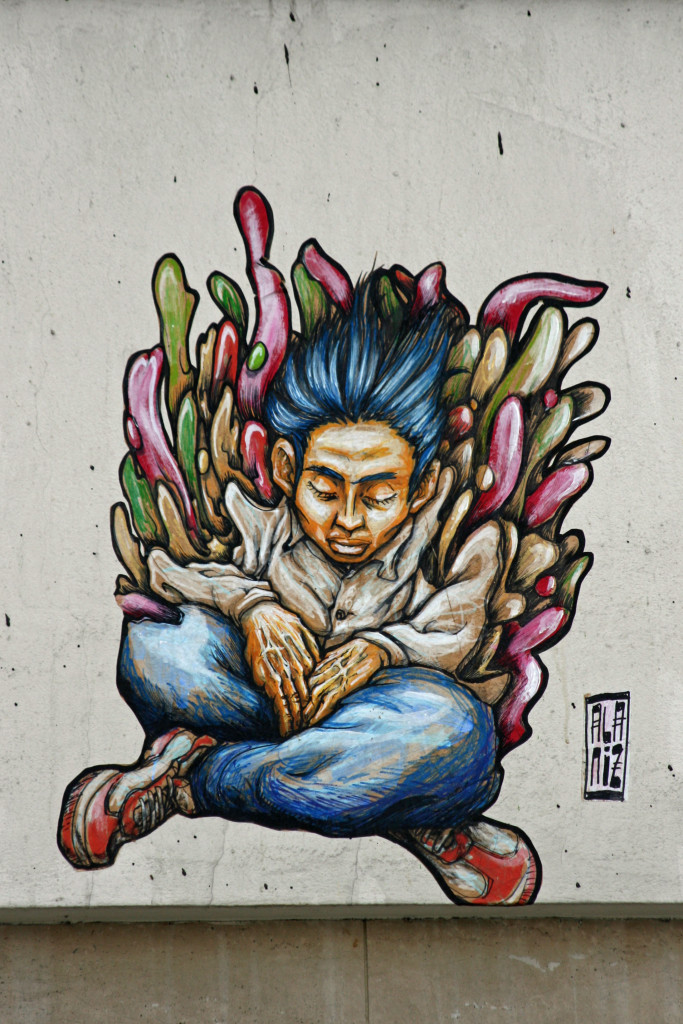Meditation: Street Art by ALANIZ in Berlin