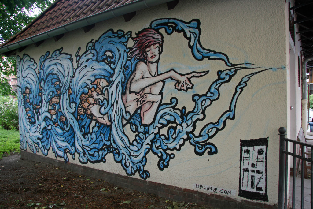 NIL (Water): Street Art by ALANIZ in Berlin