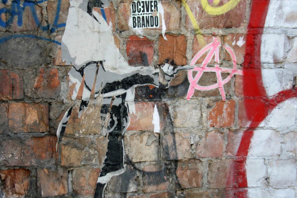 Anarchist Girl: Street Art by ALIAS in Berlin