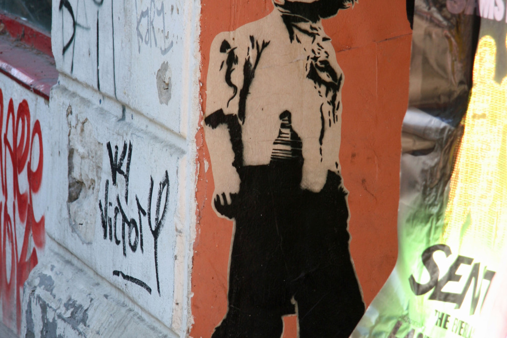 Boy With Black Eyes: Street Art by ALIAS in Berlin
