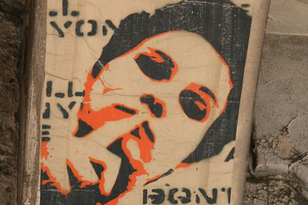 Don't Tell Anyone: Street Art by ALIAS in Berlin