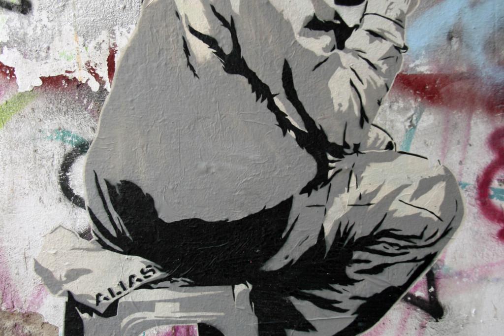 Man On A Stool: Street Art by ALIAS in Berlin