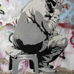 Man On A Stool: Street Art by ALIAS in Berlin