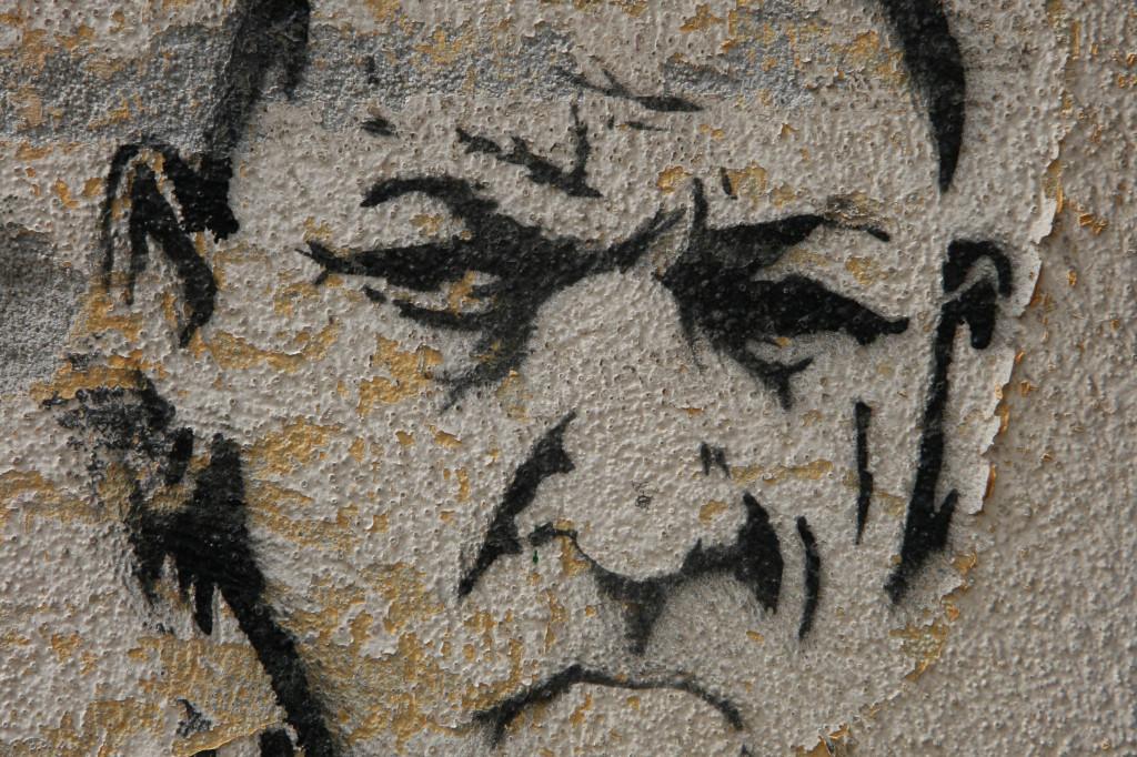 Bald Man: Street Art by Unknown Artist in Berlin