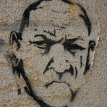 Bald Man: Street Art by Unknown Artist in Berlin