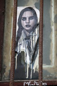 Beauty Behind Bars: Street Art by Unknown Artist in Berlin