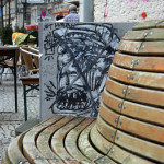 Bench Art: Street Art by Unknown Artist in Berlin