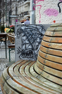 Bench Art: Street Art by Unknown Artist in Berlin