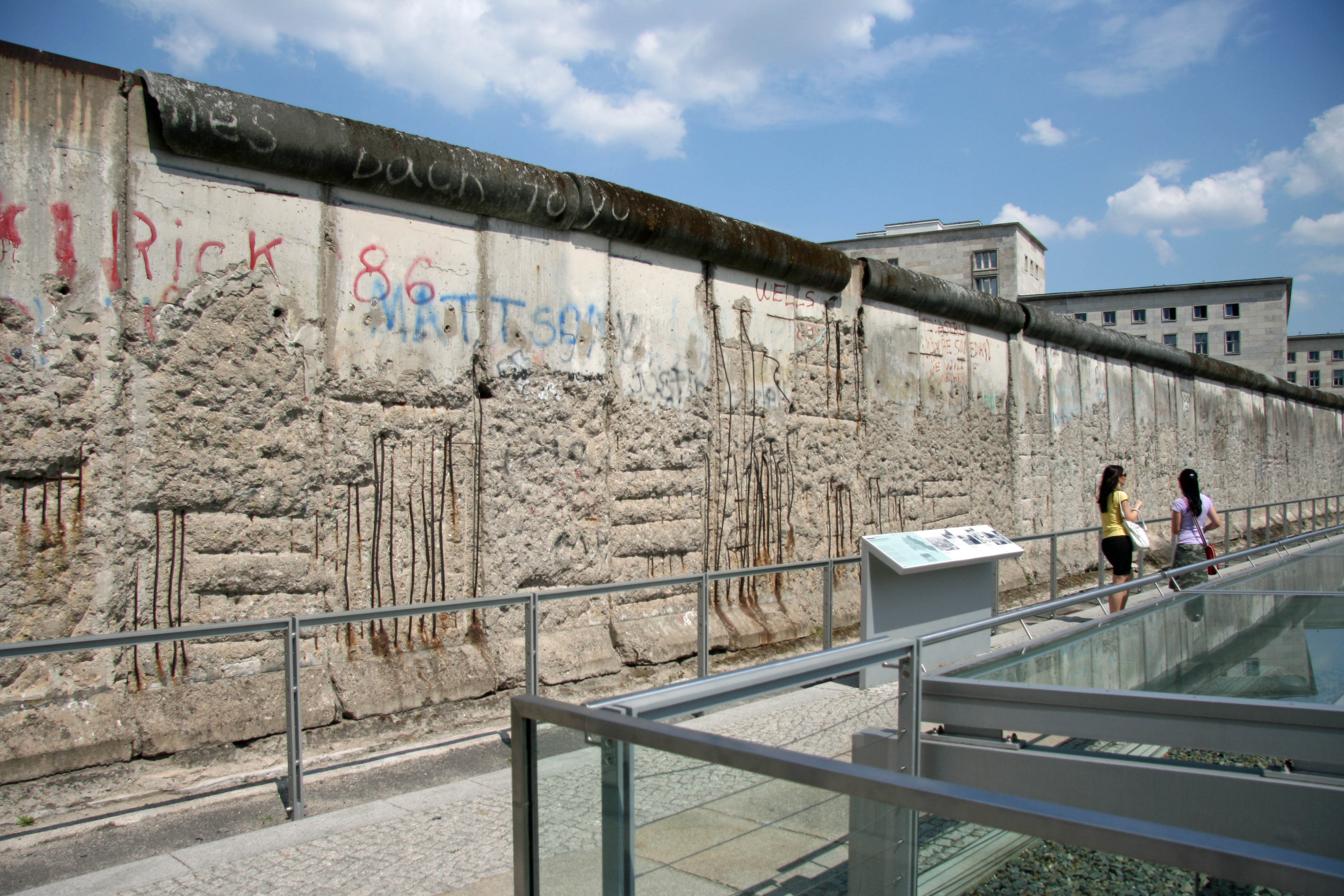 The Berlin Wall Monument at Topographie des Terrors (Topography of Terror) in Berlin