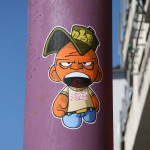 Big Mouth Sticker: Street Art by Unknown Artist in Berlin