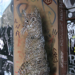 Cat In A Doorway: Street Art by C215 in Berlin