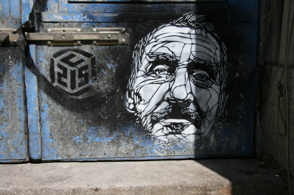 Face in a Doorway: Street Art by C215 in Berlin