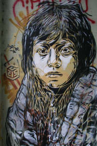 Lost Child: Street Art by C215 in Berlin