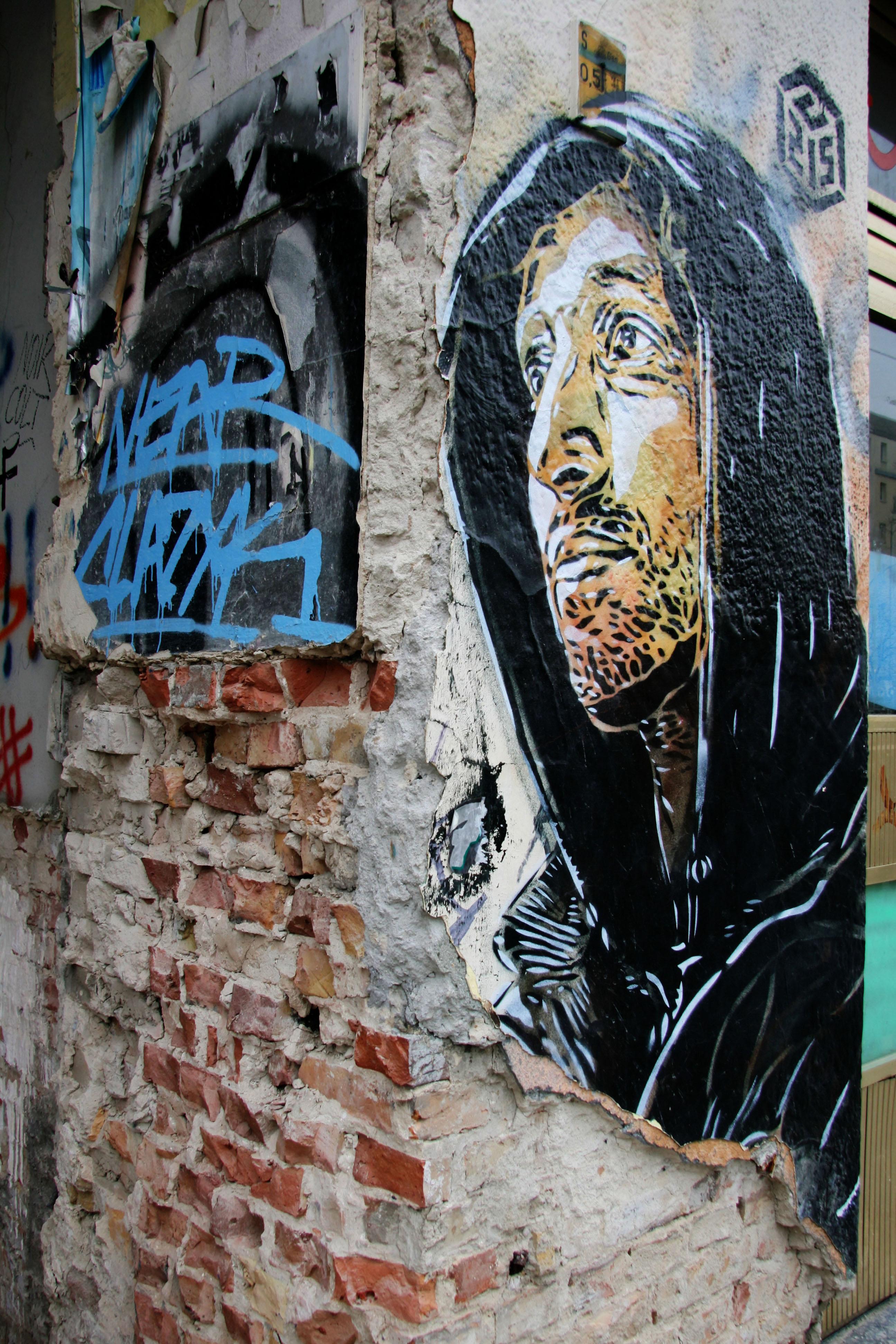 Man In A Hoodie: Street Art by C215 (Christian Guémy) in Berlin