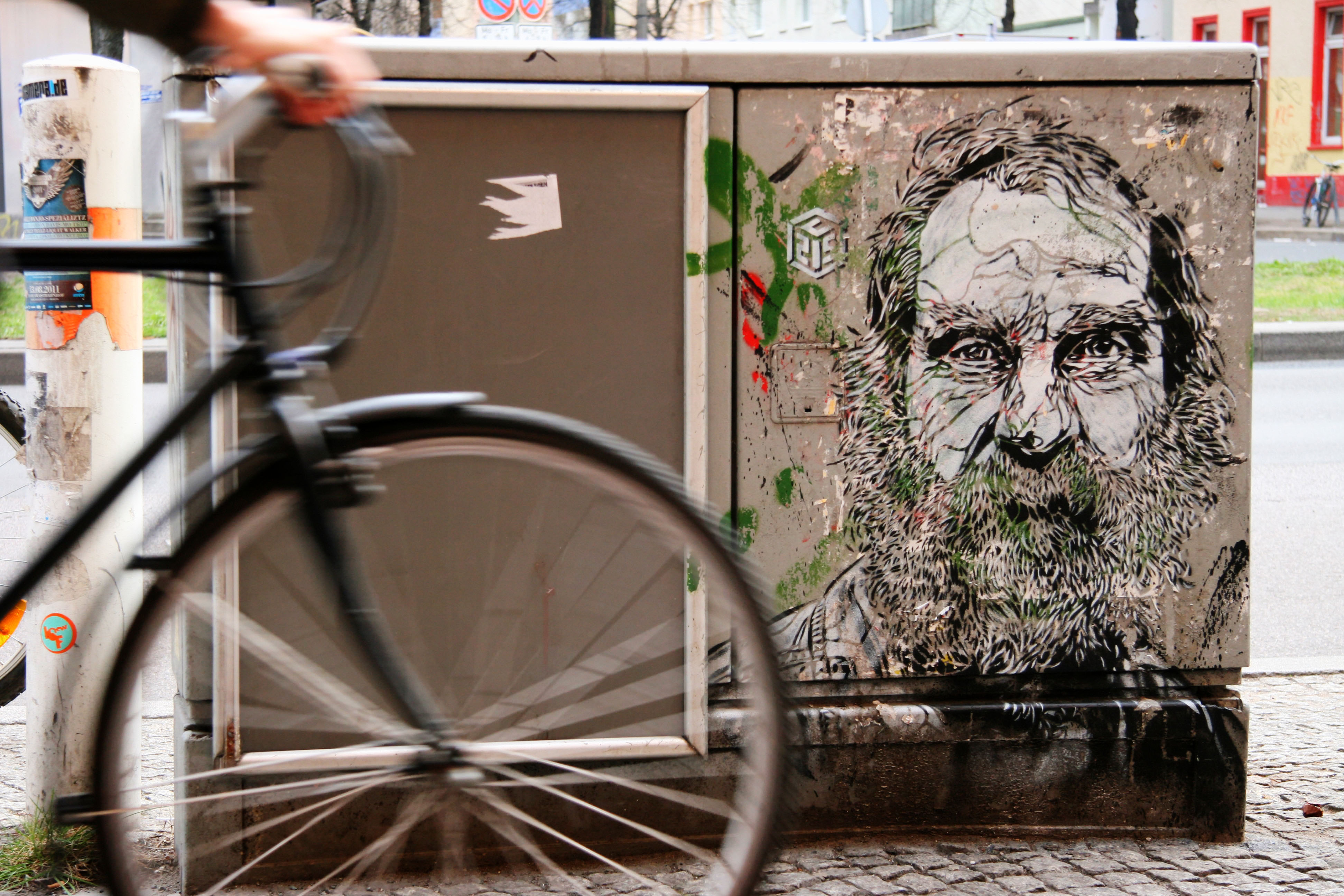 Old Man With A Beard: Street Art by C215 (Christian Guémy) in Berlin