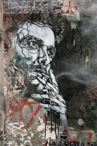 Smoker: Street Art by C215 in Berlin