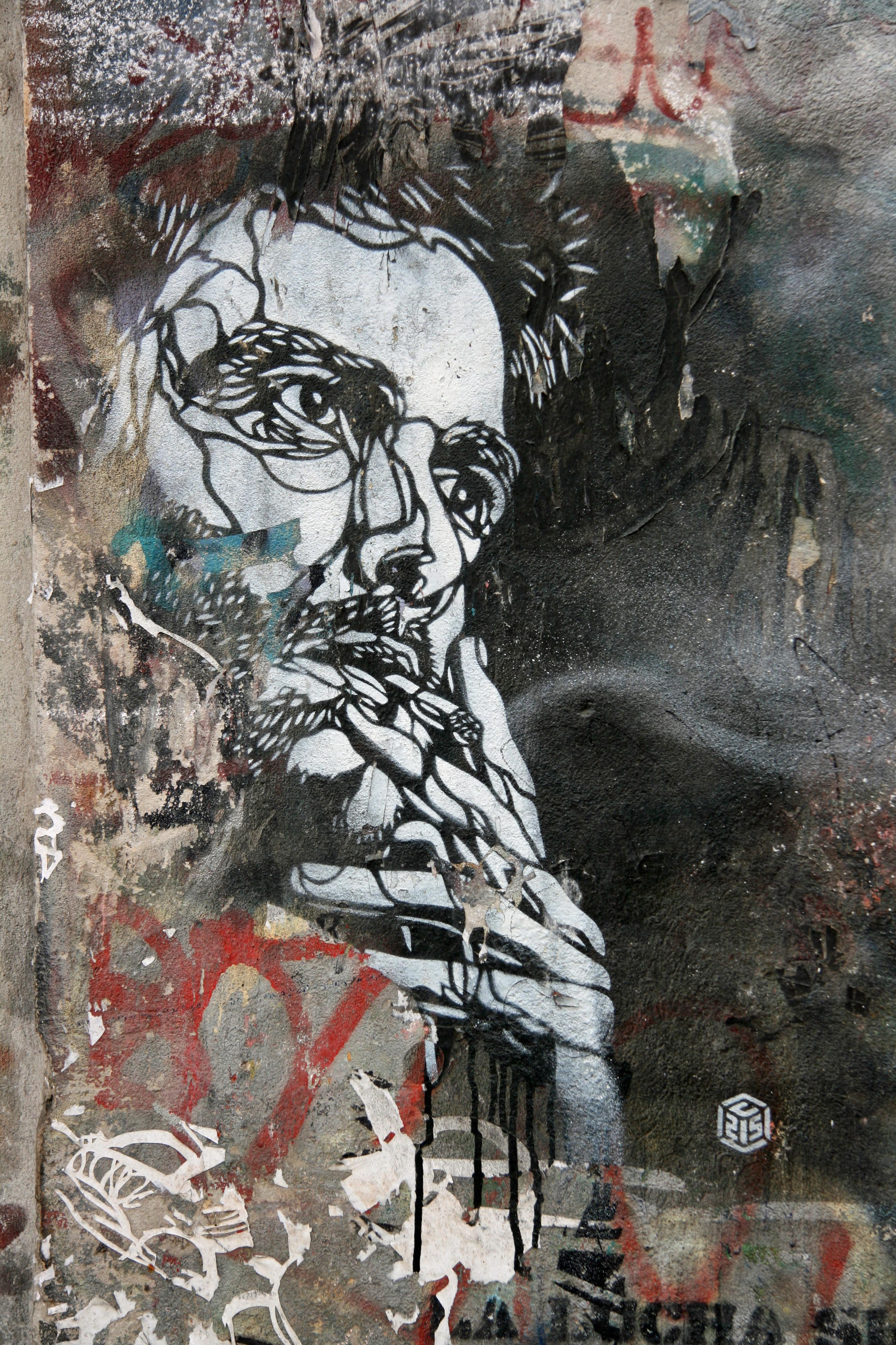Smoker: Street Art by C215 in Berlin