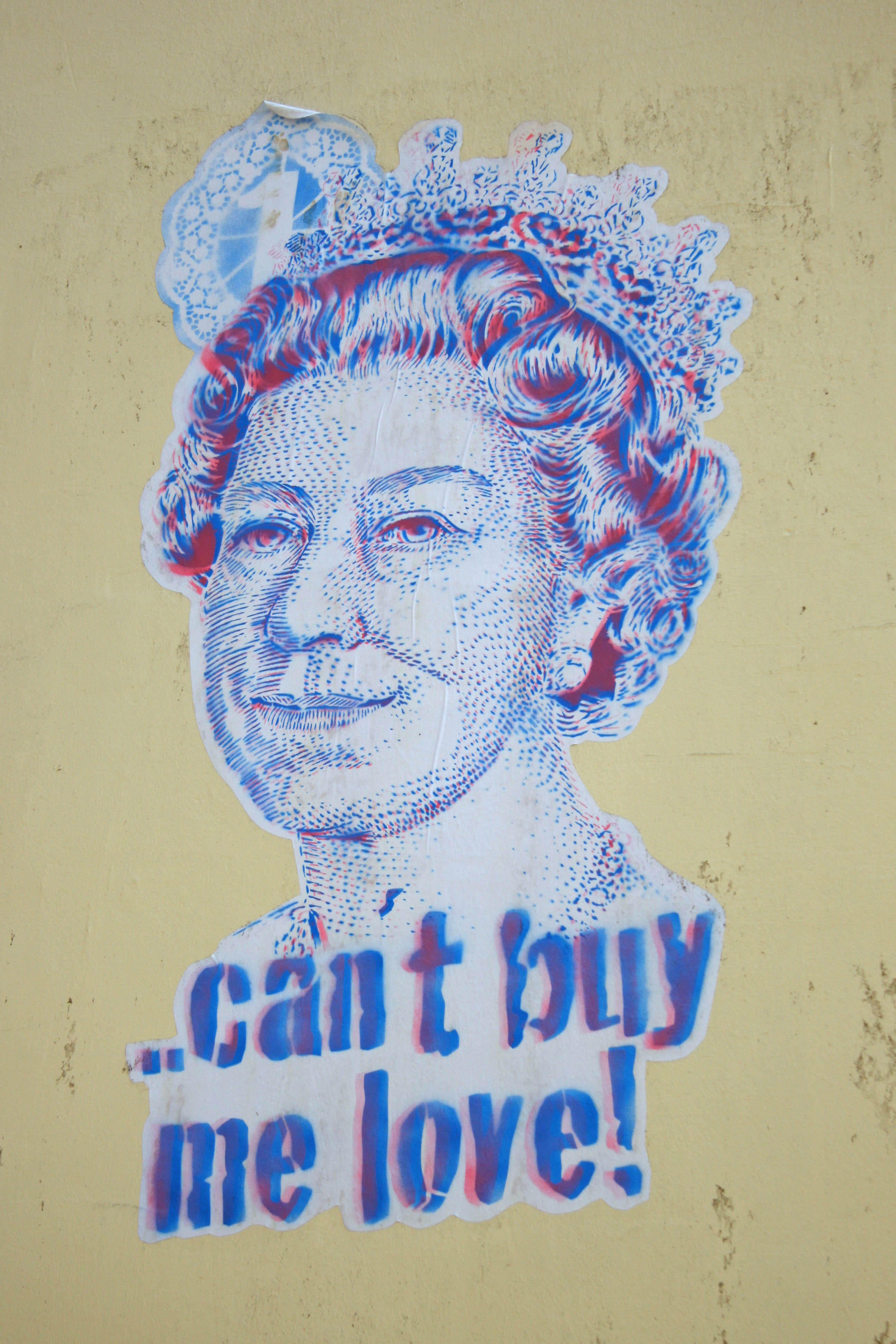 Can't Buy Me Love: Street Art by Unknown Artist in Berlin