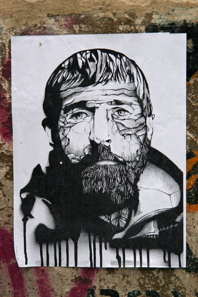 Craggy Face: Street Art by Unknown Artist in Berlin