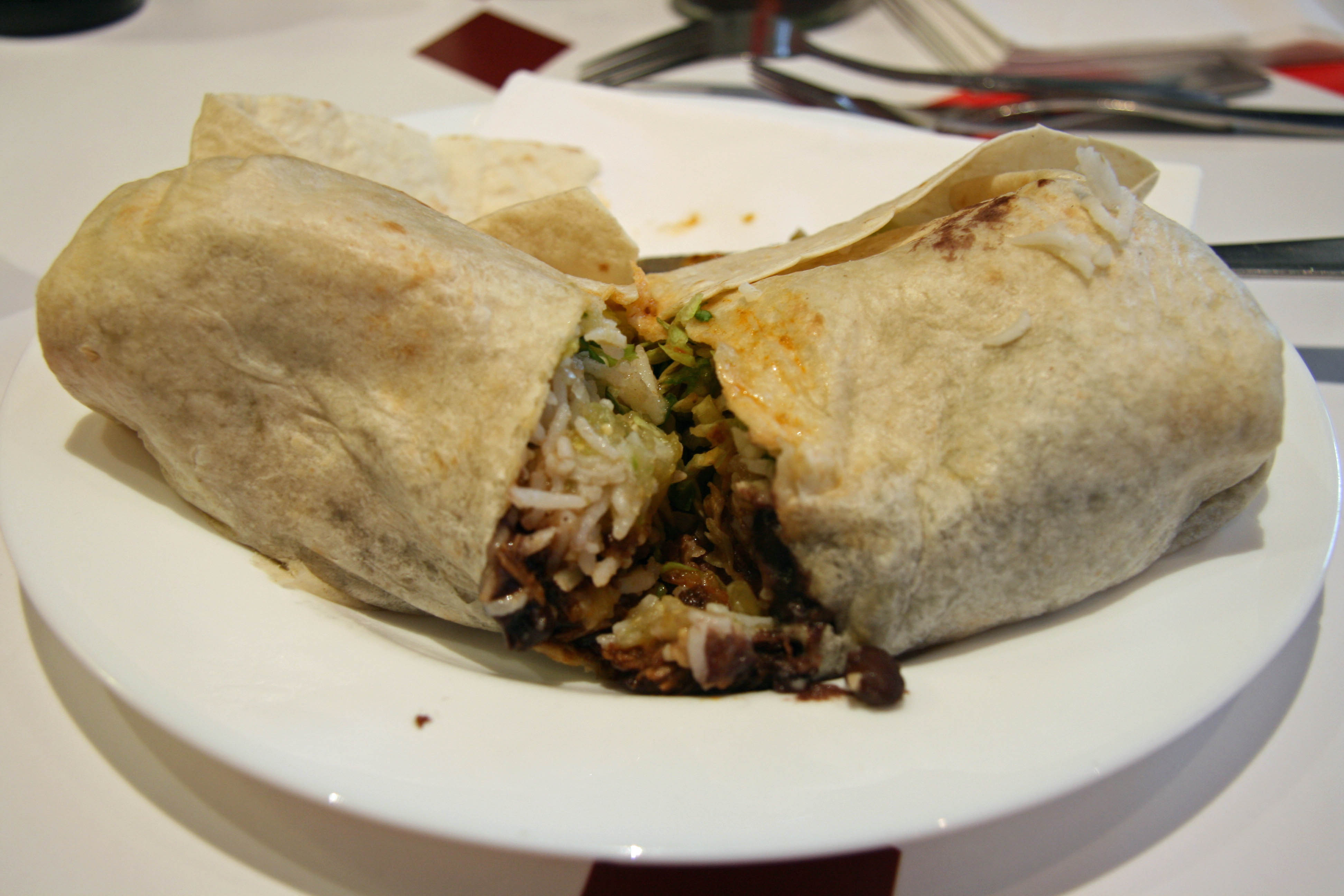A Burrito at Dolores in Berlin Mitte