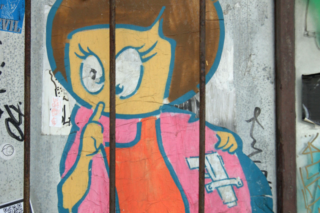 Little Lucy 2: Street Art by El Bocho in Berlin