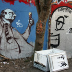 Fat Man With An Ice Cream: Street Art by Unknown Artist in Berlin