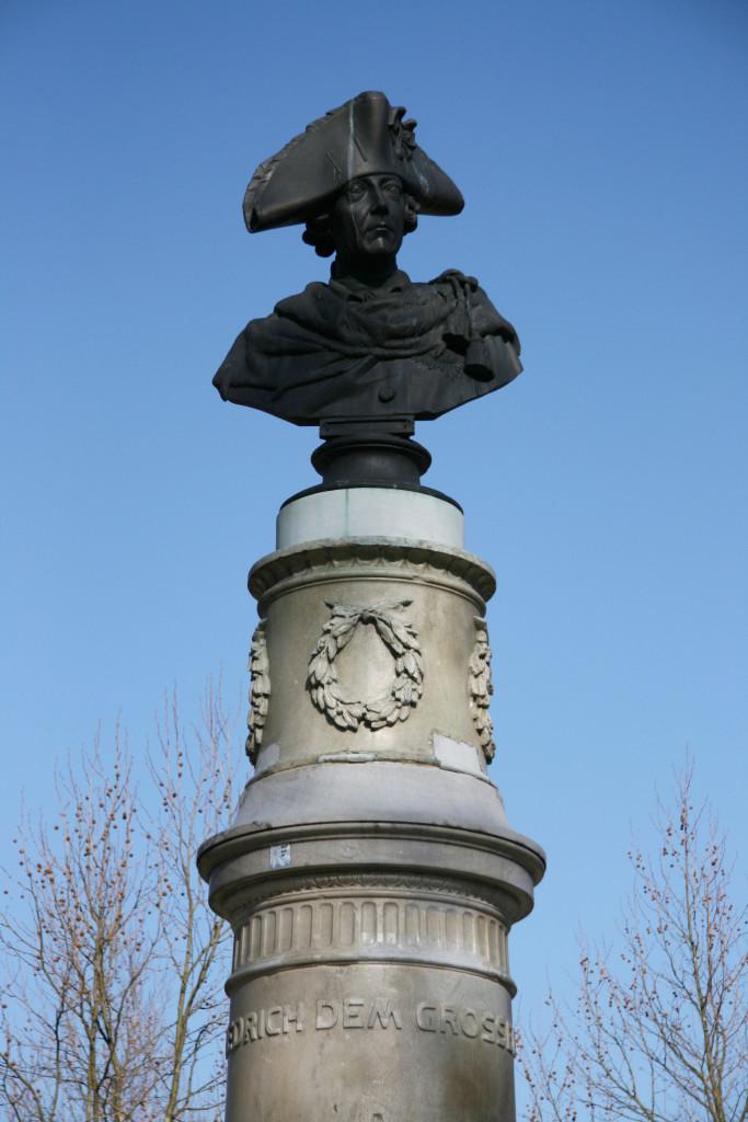 A statue to Friedrich der Grosse (Frederick The Great) in Volkspark Friedrichshain in Berlin